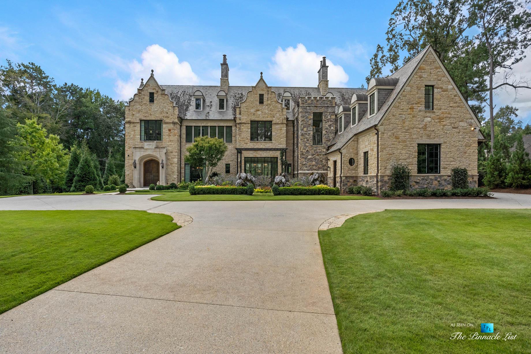 1150 W Garmon Rd, Atlanta, GA, USA – Front Property Grounds Driveway – Luxury Real Estate – Buckhead Estate House