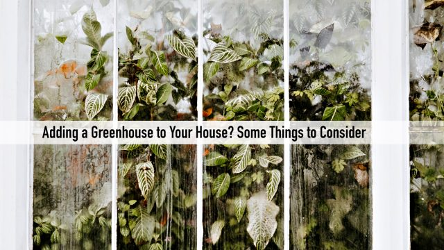 Adding a Greenhouse to Your House? Some Things to Consider