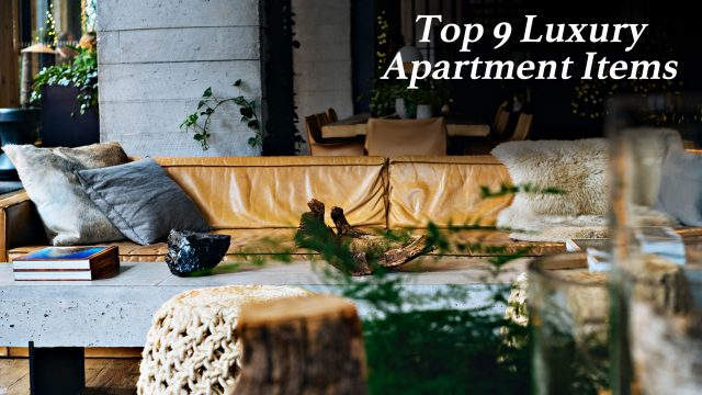 The Top 9 Luxury Apartment Items That Anyone Can Have