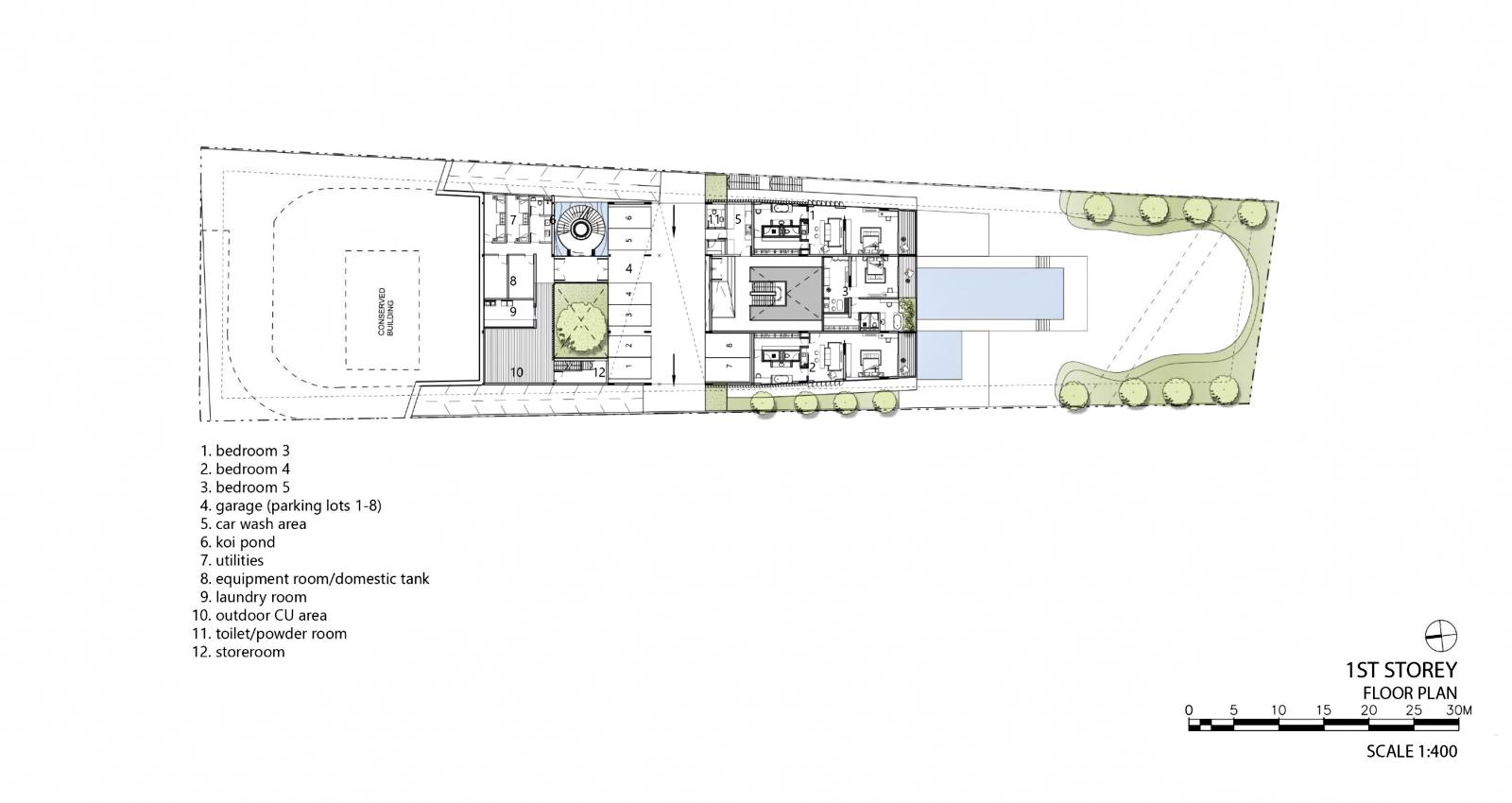 First Floor Plan – Hidden House Luxury Estate – Ridout Road, Singapore