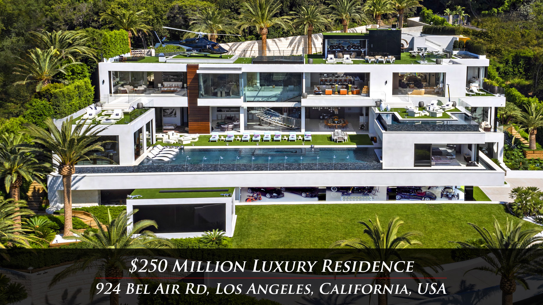 $250 Million Luxury Residence – 924 Bel Air Rd, Los Angeles, CA, USA