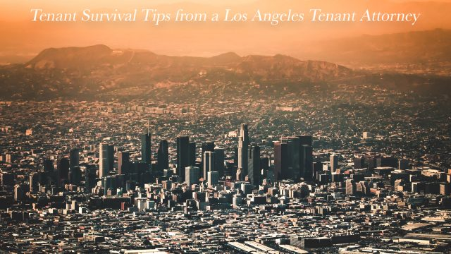 Tenant Survival Tips from a Los Angeles Tenant Attorney