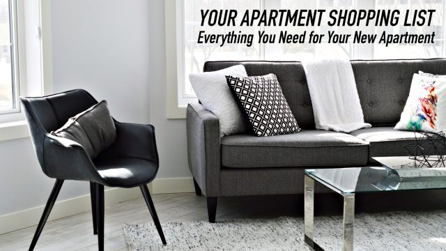 Your Apartment Shopping List - Everything You Need for Your New Apartment
