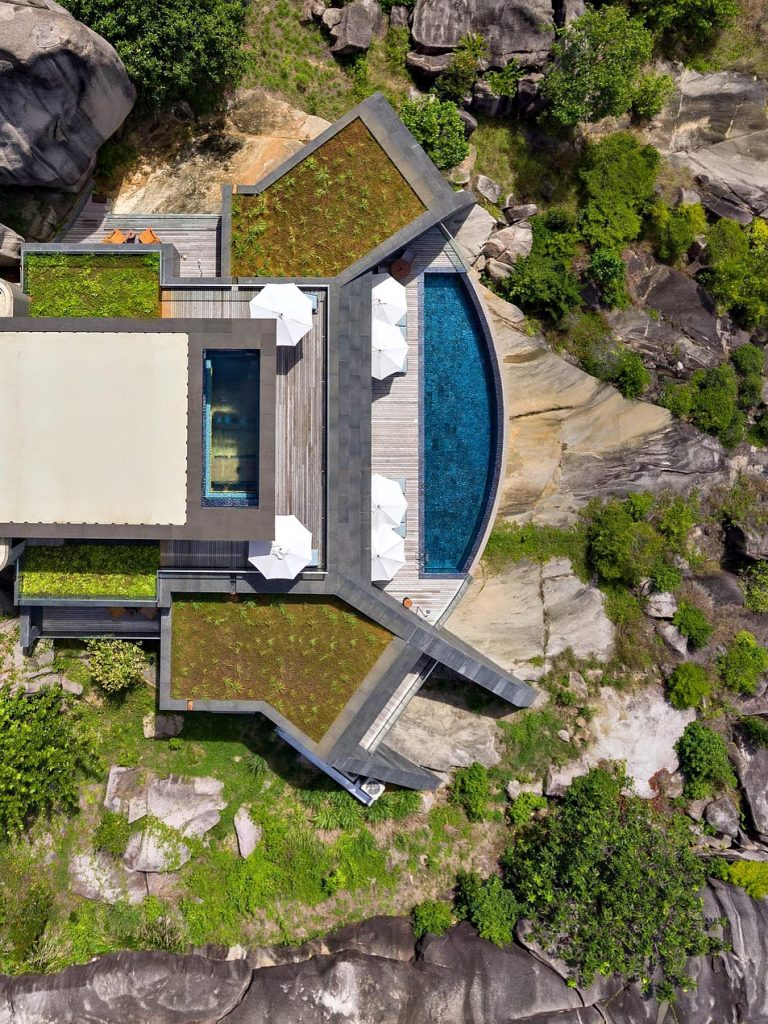 Four Bedroom Luxury Residence - Felicite Island, Seychelles - Villa Aerial View