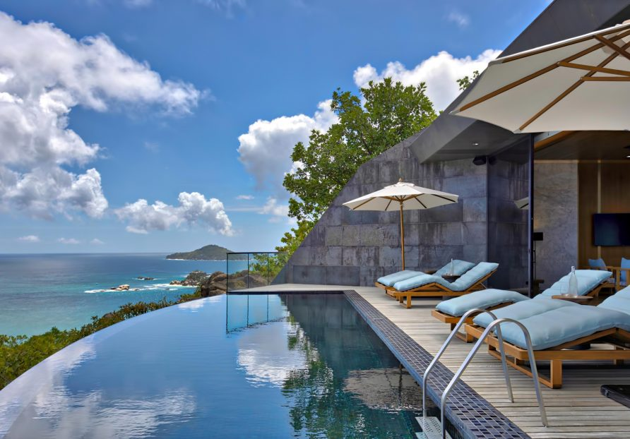 Three Bedroom Luxury Residence - Felicite Island, Seychelles - Infinity Pool Deck