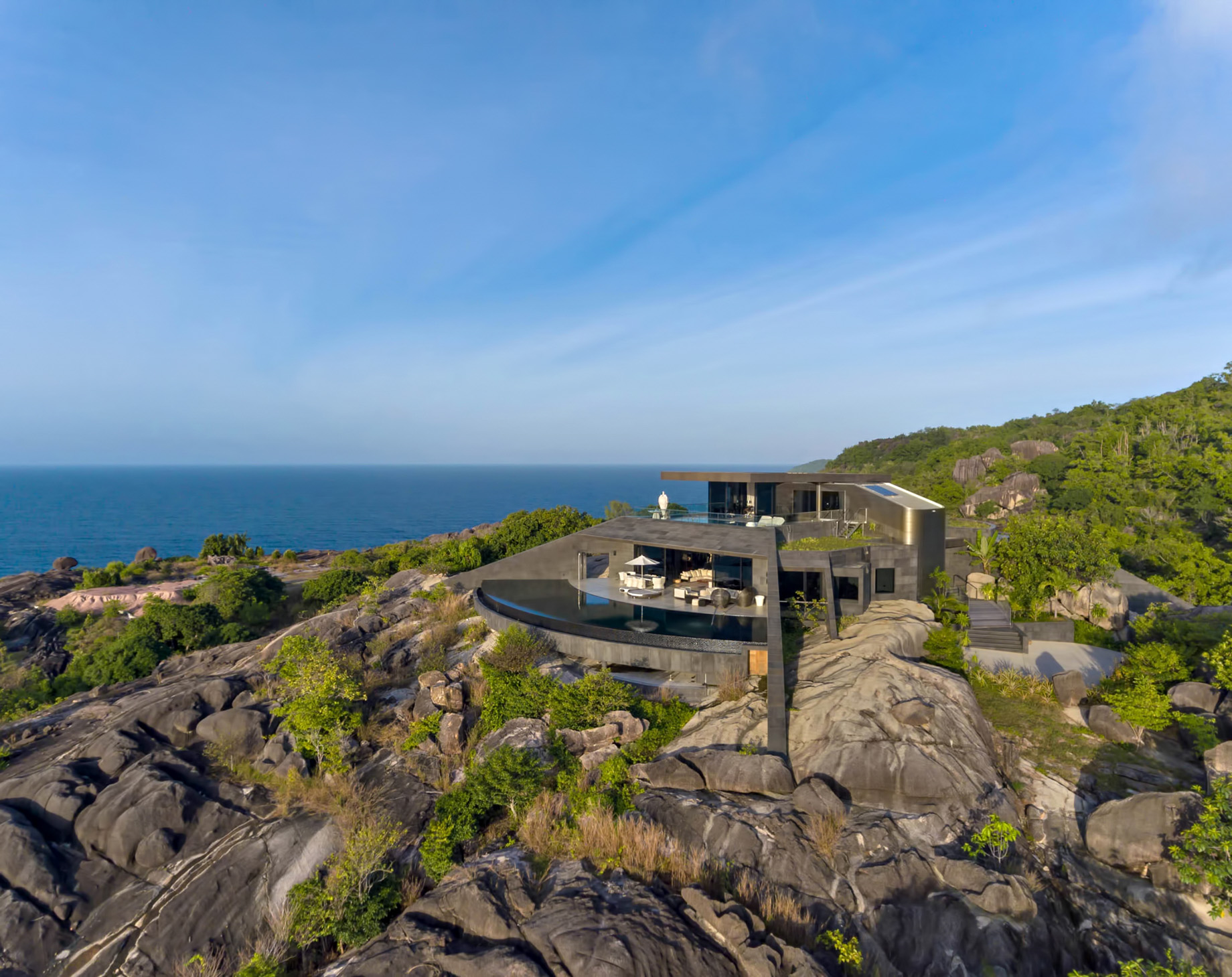 Private Four Bedroom Residence – Felicite Island, Seychelles – Aerial