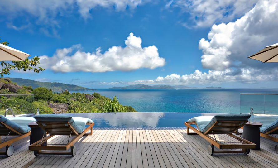 Three Bedroom Luxury Residence - Felicite Island, Seychelles - Infinity Pool Ocean View