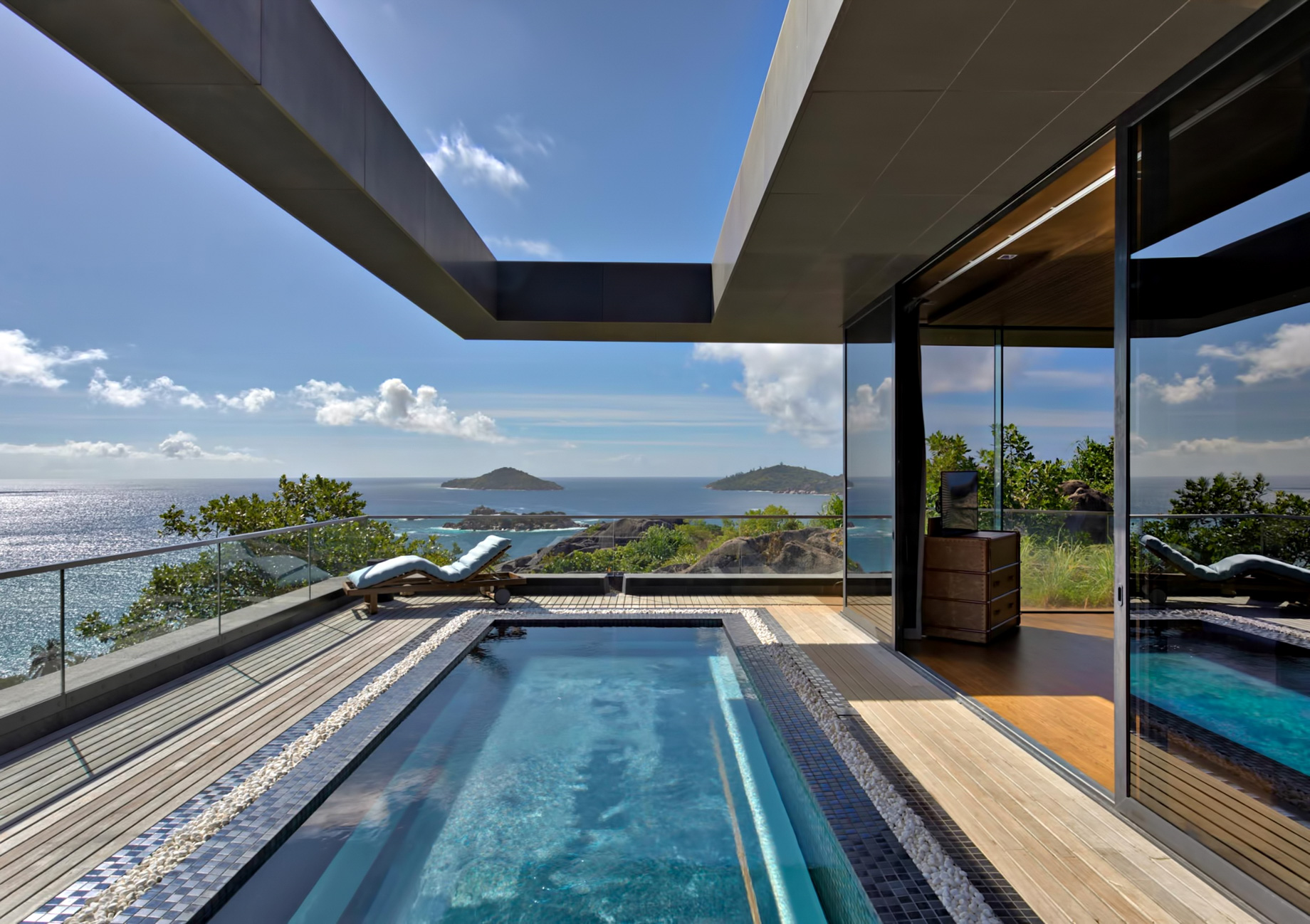 Private Four Bedroom Residence – Felicite Island, Seychelles – Pool Deck
