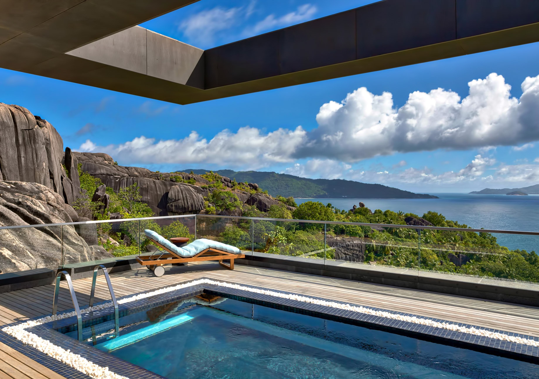 Three Bedroom Luxury Residence – Felicite Island, Seychelles – Infinity Pool View