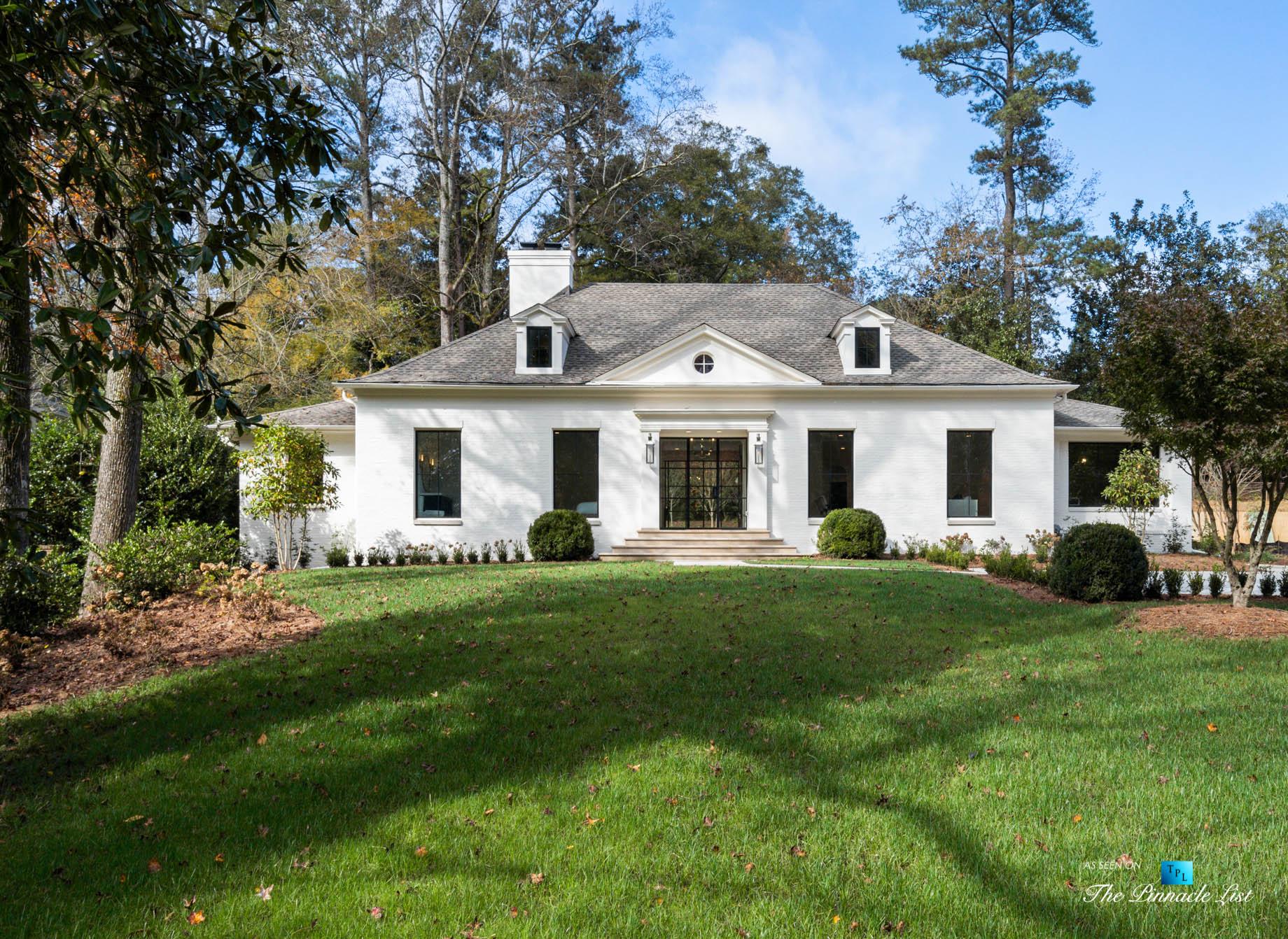447 Valley Rd NW, Atlanta, GA, USA – Front Exterior – Luxury Real Estate – Tuxedo Park Home
