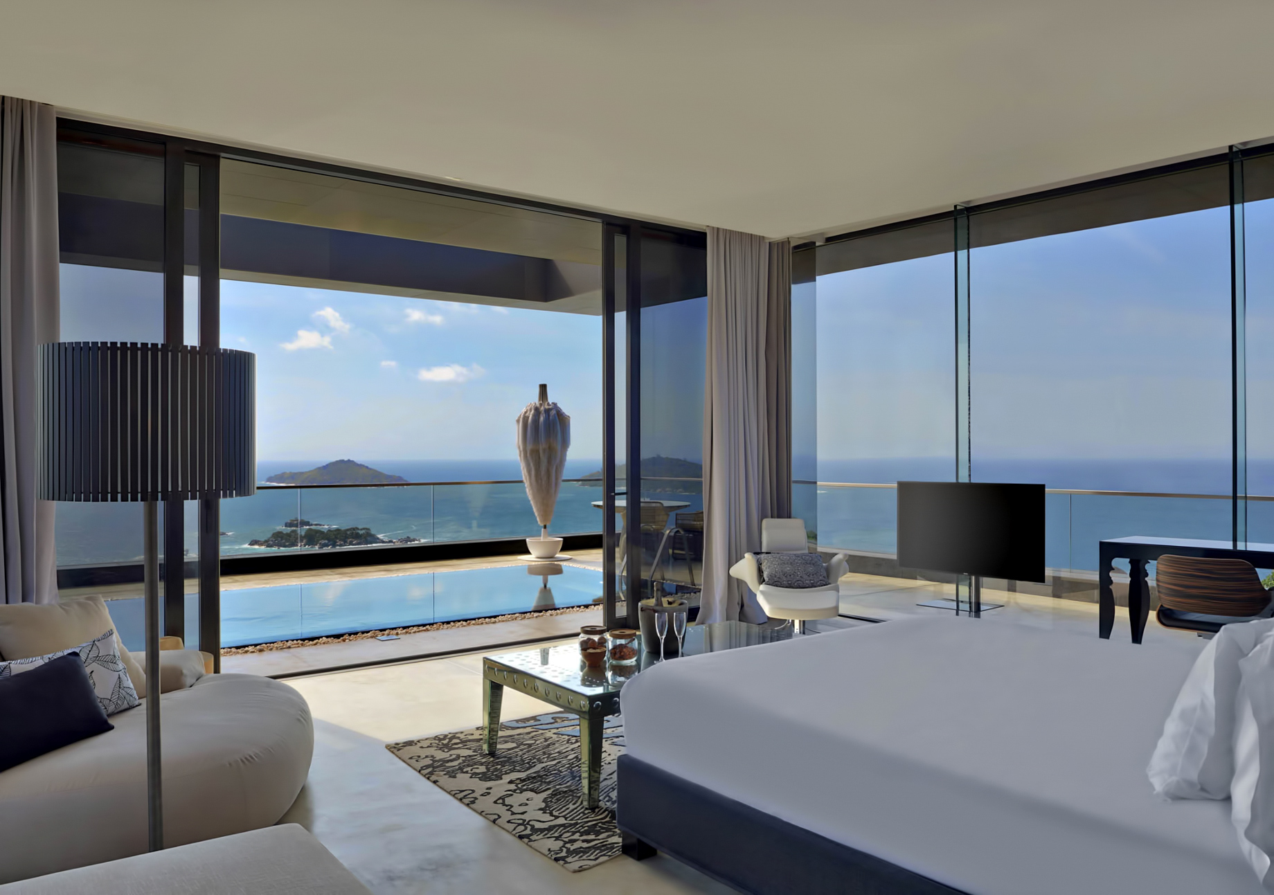 Private Four Bedroom Residence – Felicite Island, Seychelles – Master Bedroom View