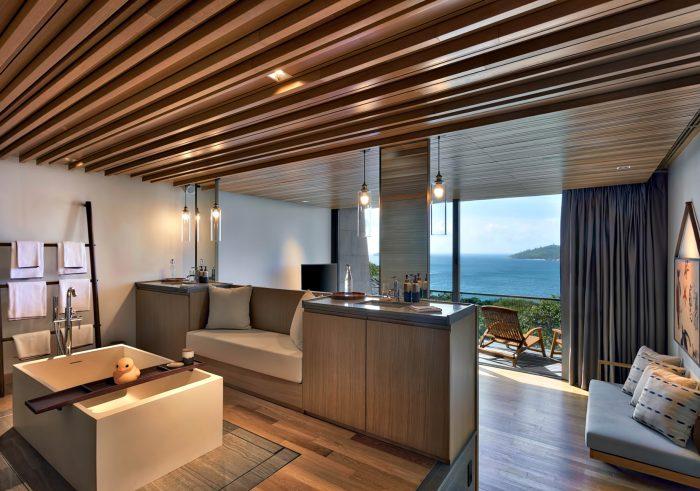 Four Bedroom Luxury Residence - Felicite Island, Seychelles - Bathroom Bedroom View