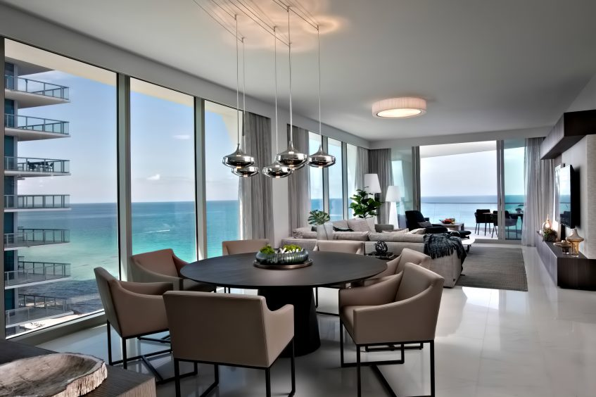 Oceanfront Condo Interior Sunny Isles Beach, FL, USA - Dkor Interiors