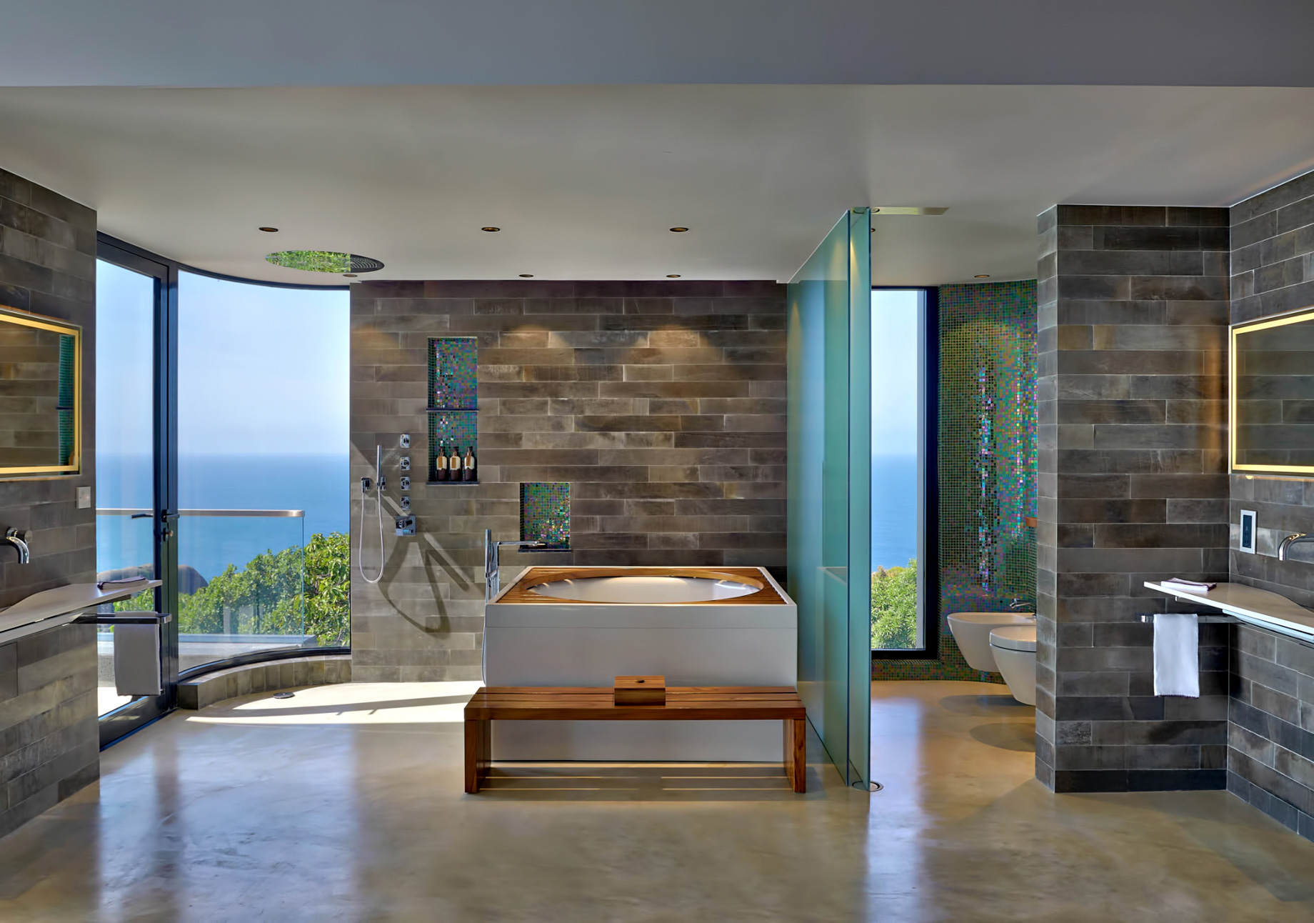 Private Four Bedroom Residence – Felicite Island, Seychelles – Master Bathroom