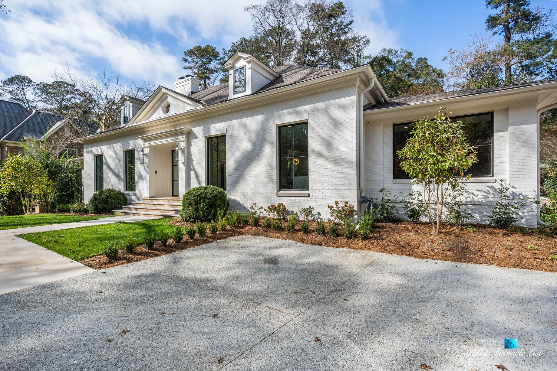 447 Valley Rd NW, Atlanta, GA, USA - Front Entrance Exterior - Luxury Real Estate - Tuxedo Park Home
