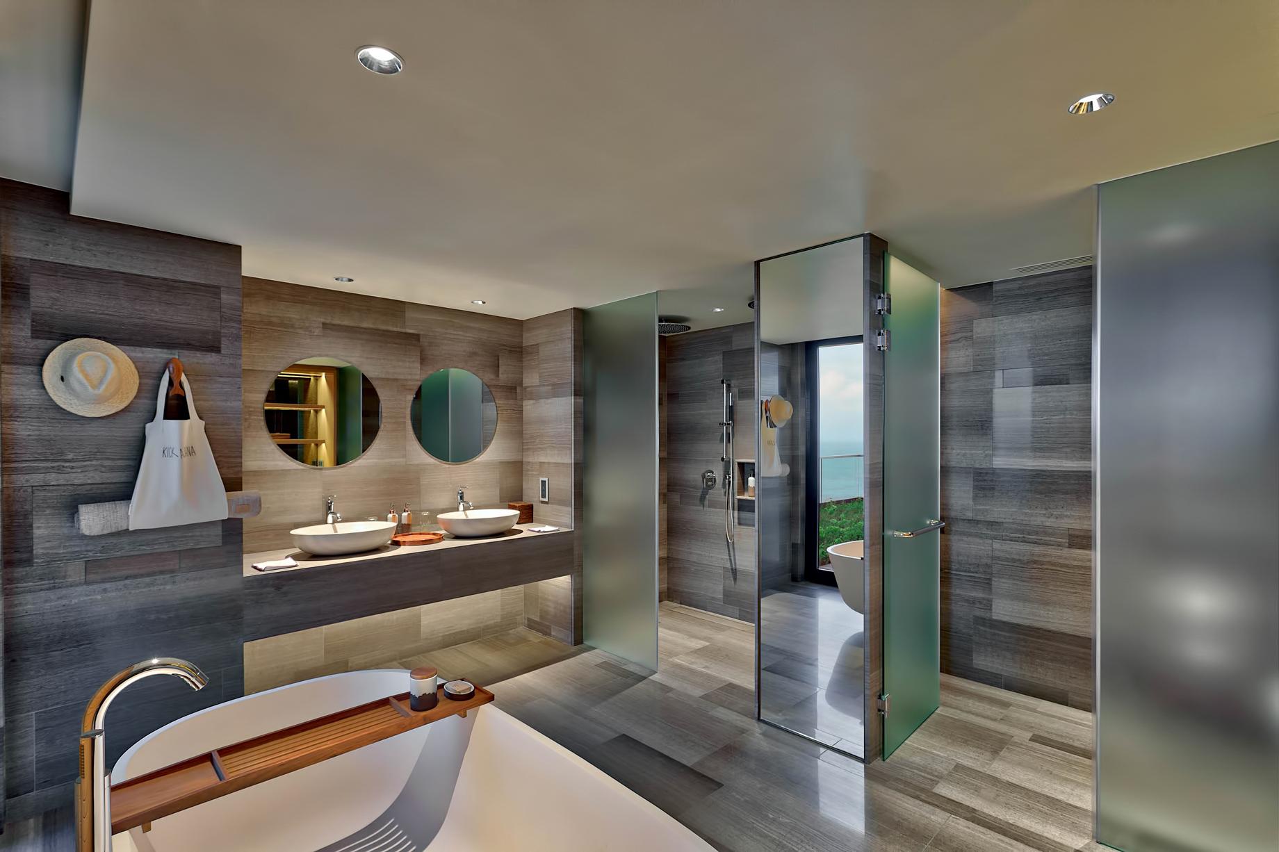 Three Bedroom Luxury Residence – Felicite Island, Seychelles – Master Bathroom