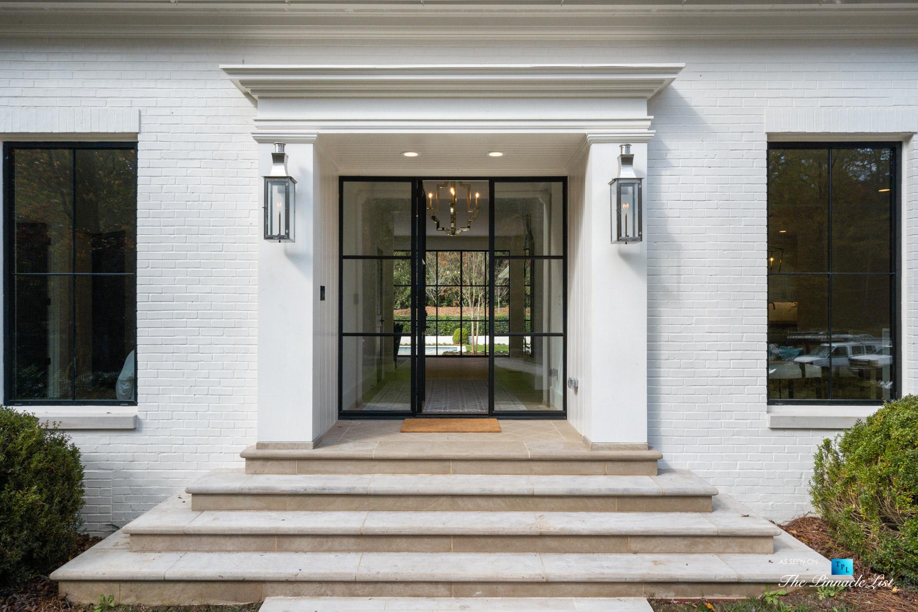 447 Valley Rd NW, Atlanta, GA, USA – Front Glass Door – Luxury Real Estate – Tuxedo Park Home