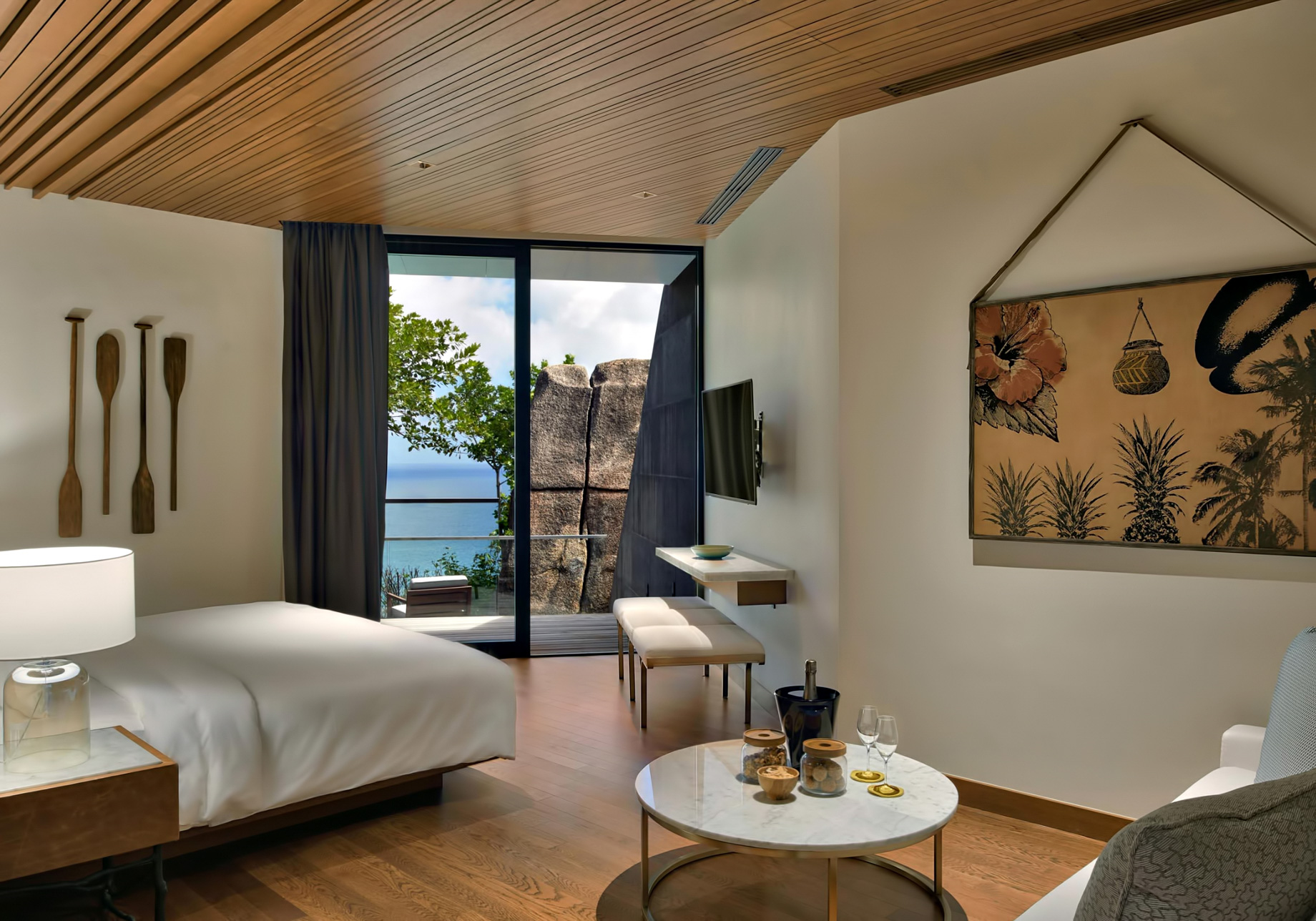 Three Bedroom Luxury Residence - Felicite Island, Seychelles - Bedroom