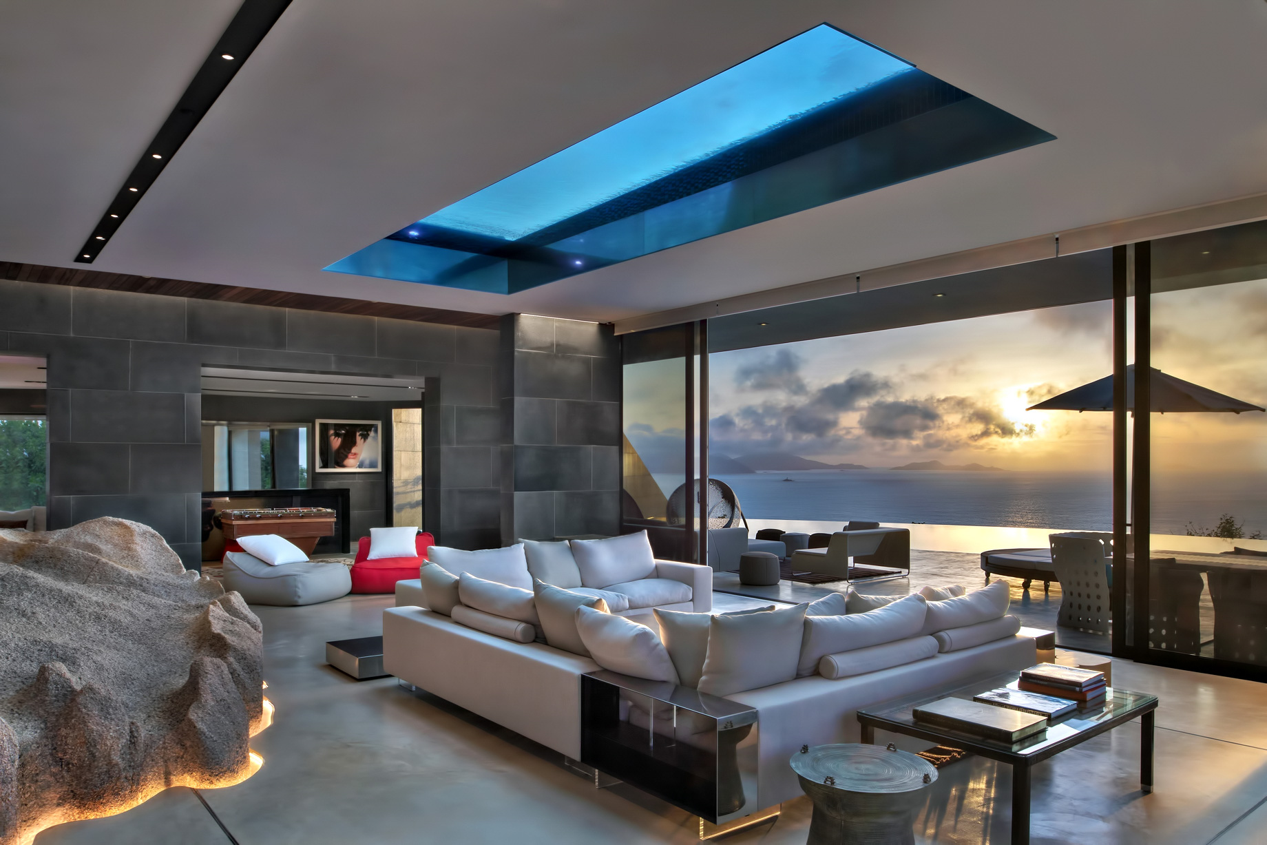 Private Four Bedroom Residence – Felicite Island, Seychelles – Living Room