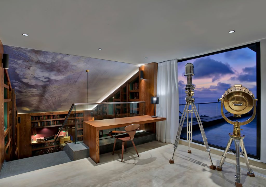 Private Four Bedroom Residence - Felicite Island, Seychelles - Master Landing Sunset