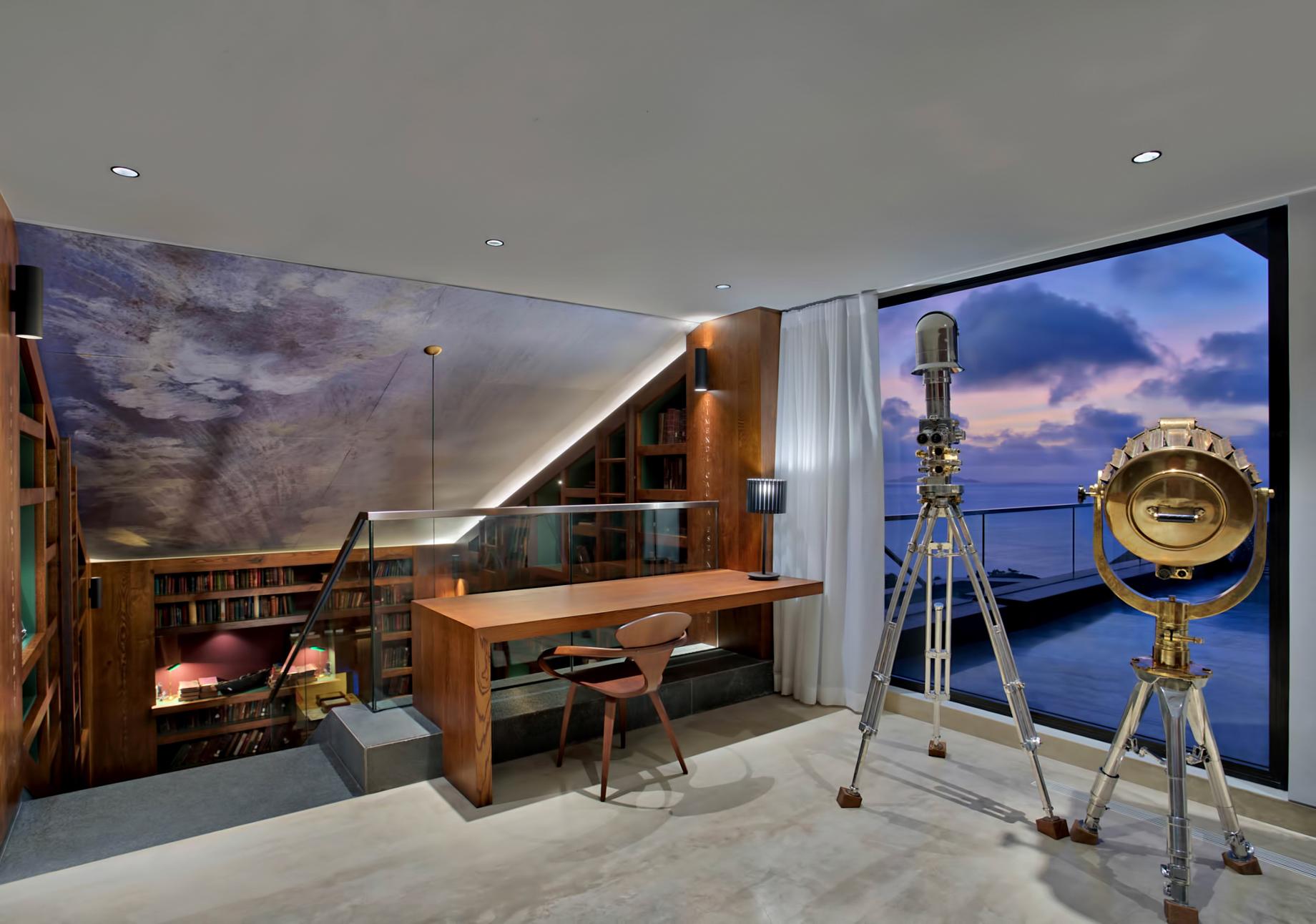 Private Four Bedroom Residence - Felicite Island, Seychelles - Master Landing Sunset