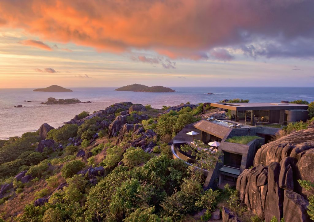Three Bedroom Luxury Residence - Felicite Island, Seychelles - Sunset Island View