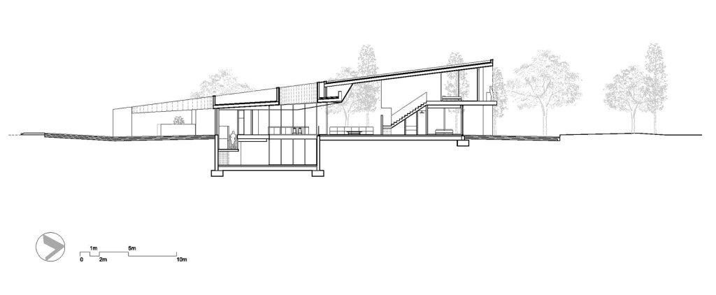 Section - Gruyere Luxury Villa - Caldes de Malavella, Girona, Spain