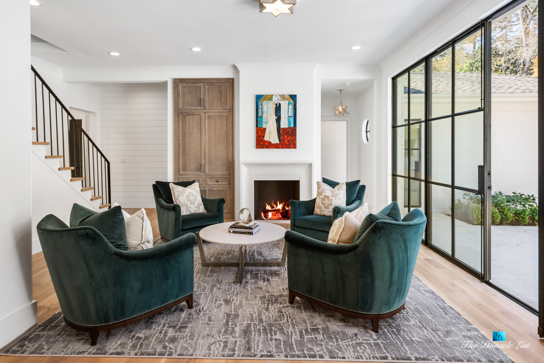 447 Valley Rd NW, Atlanta, GA, USA – Sitting Area and Glass Door – Luxury Real Estate – Tuxedo Park Home