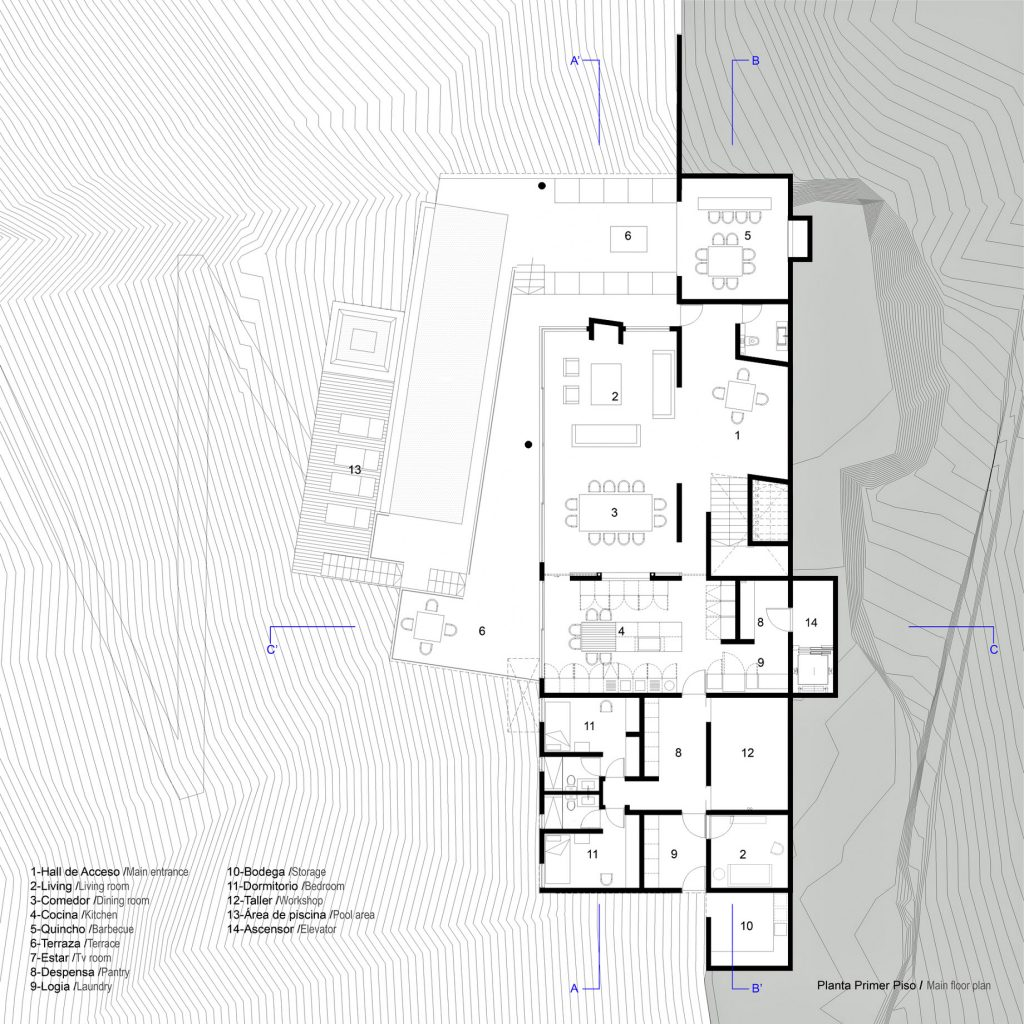 018 Floor Plans - Paravicini Luxury Beach House - Cachagua, Chile