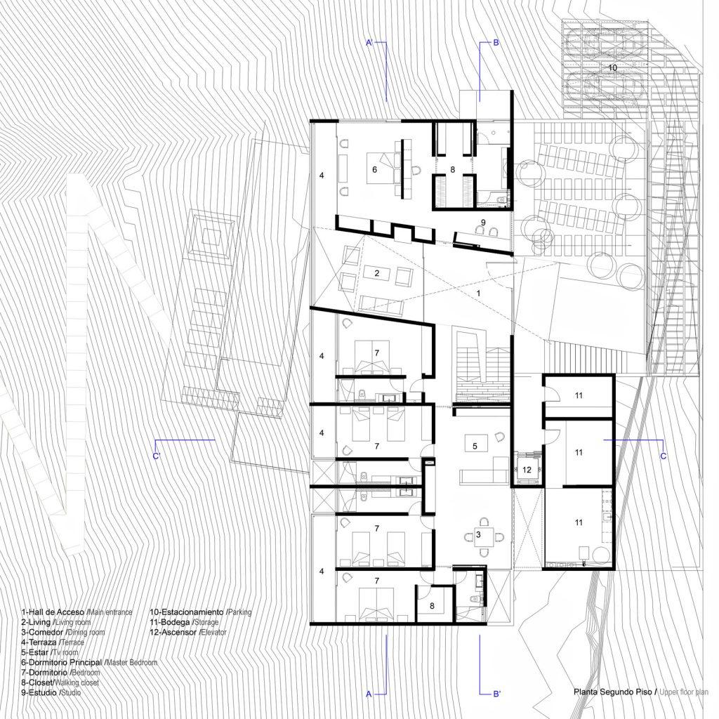 019 Floor Plans - Paravicini Luxury Beach House - Cachagua, Chile