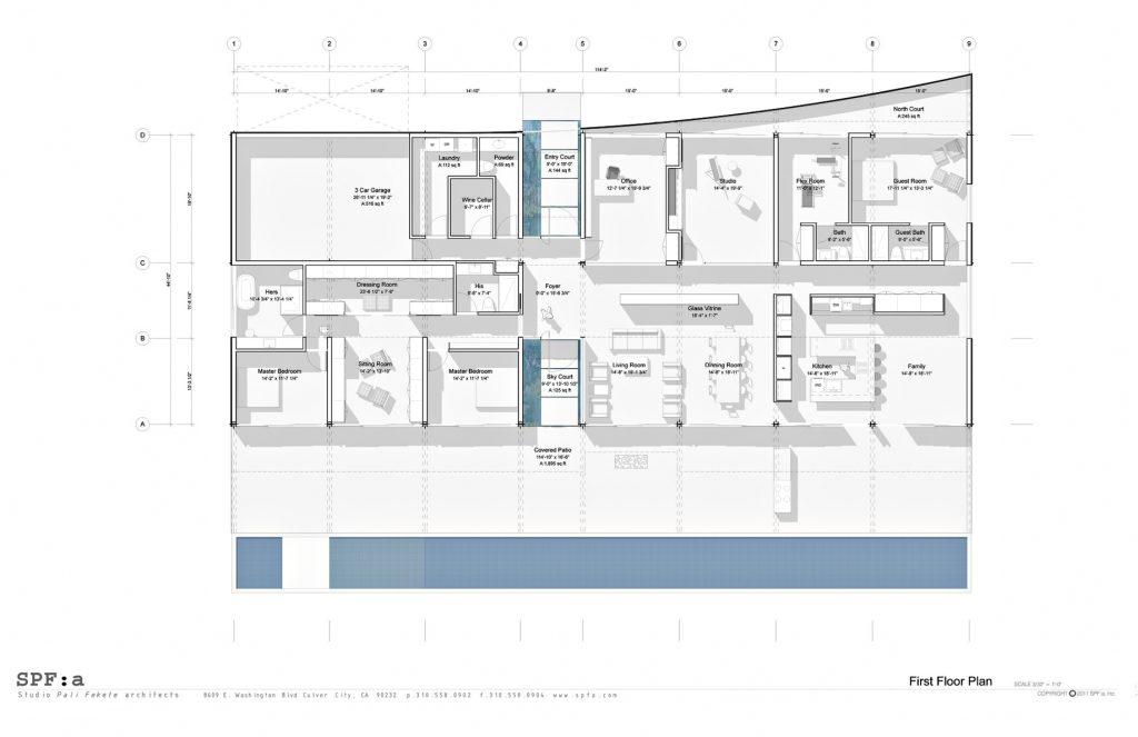 Floor Plans - Double Stick House - Trousdale Estates, Beverly Hills, CA, USA