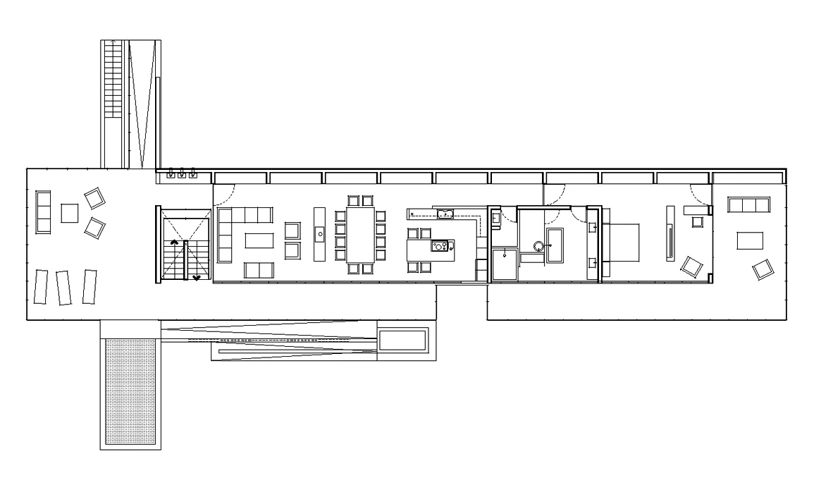 Floor Plans – House H Luxury Residence – Zapallar, Chile