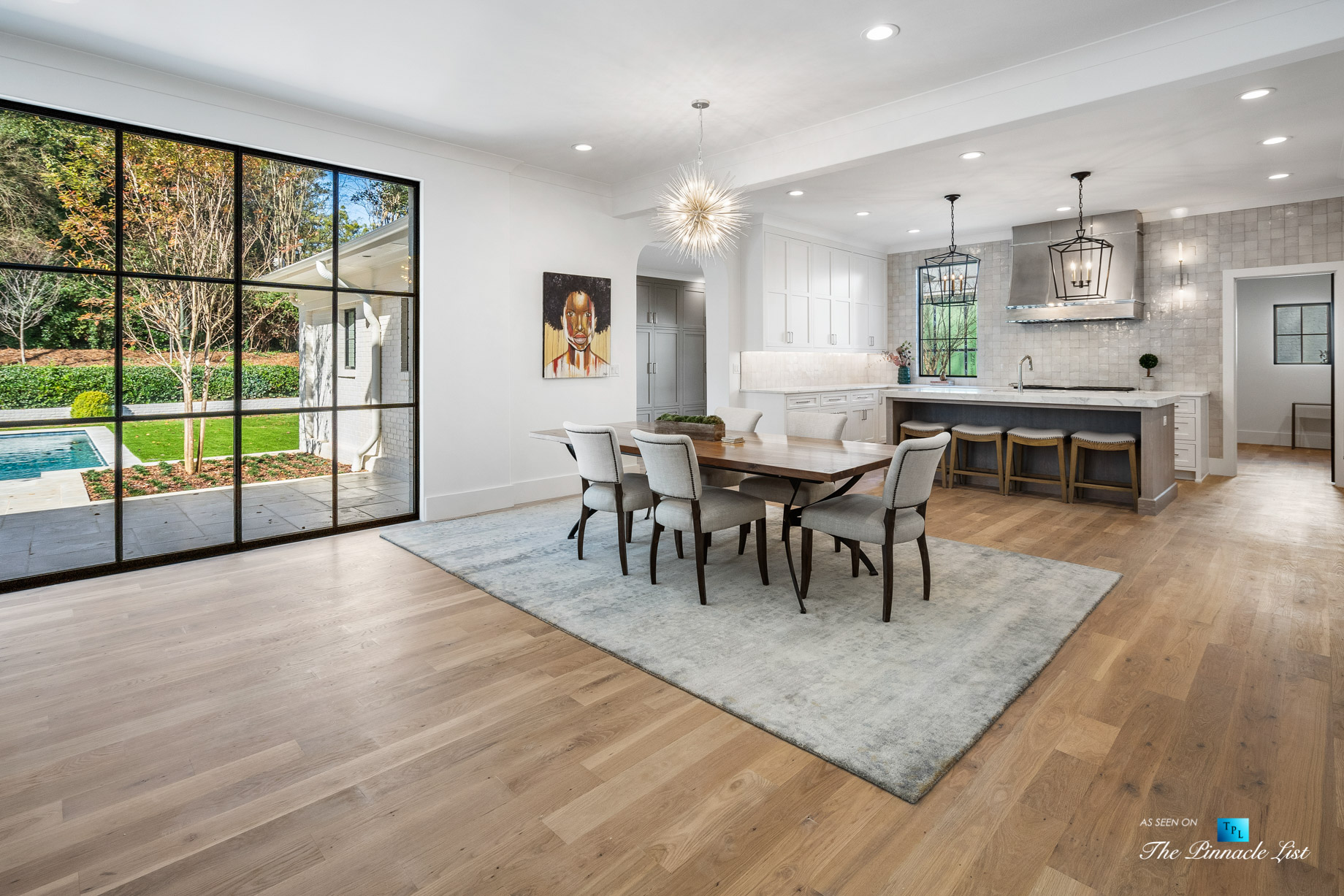 447 Valley Rd NW, Atlanta, GA, USA - Dining Room and Kitchen - Luxury Real Estate - Tuxedo Park Home