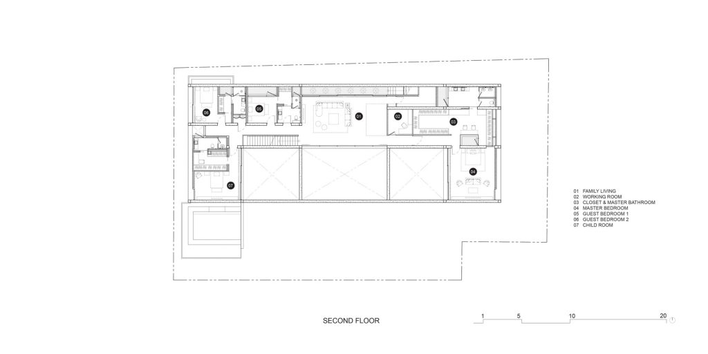 Second Floor Plan - Casa de Alisa Luxury Residence - Nonthaburi, Thailand