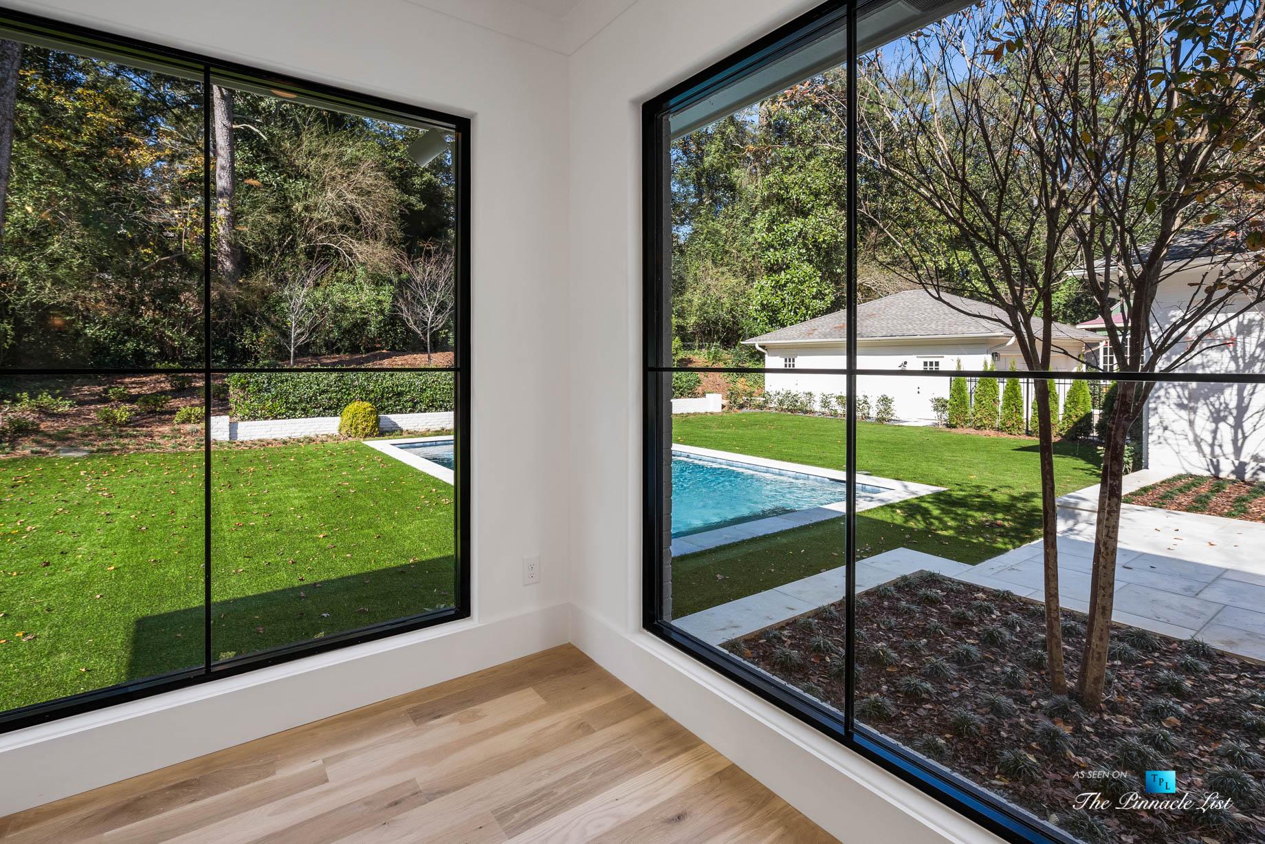 447 Valley Rd NW, Atlanta, GA, USA – Master Bedroom Pool View- Luxury Real Estate – Tuxedo Park Home