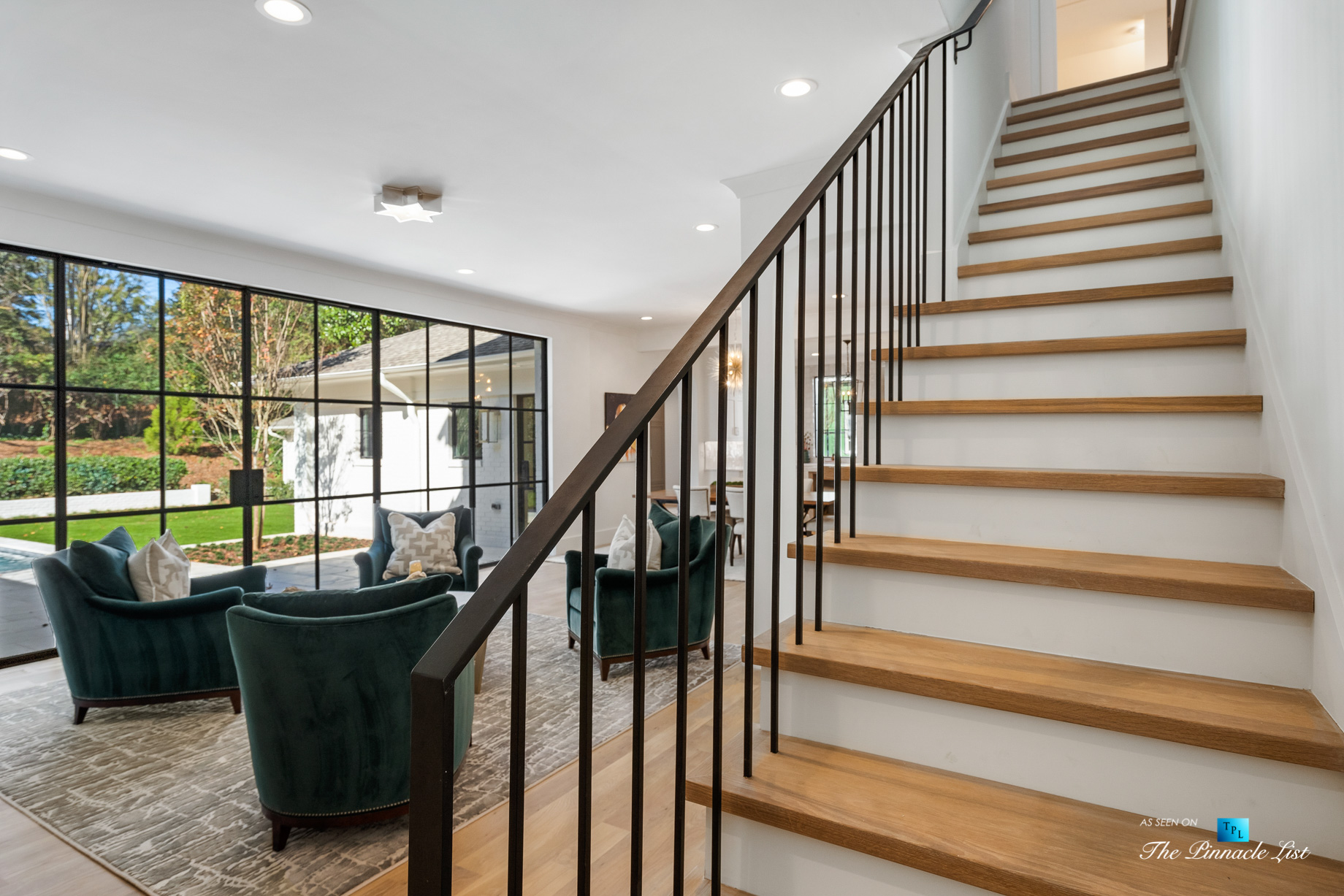 447 Valley Rd NW, Atlanta, GA, USA – Stairs – Luxury Real Estate – Tuxedo Park Home