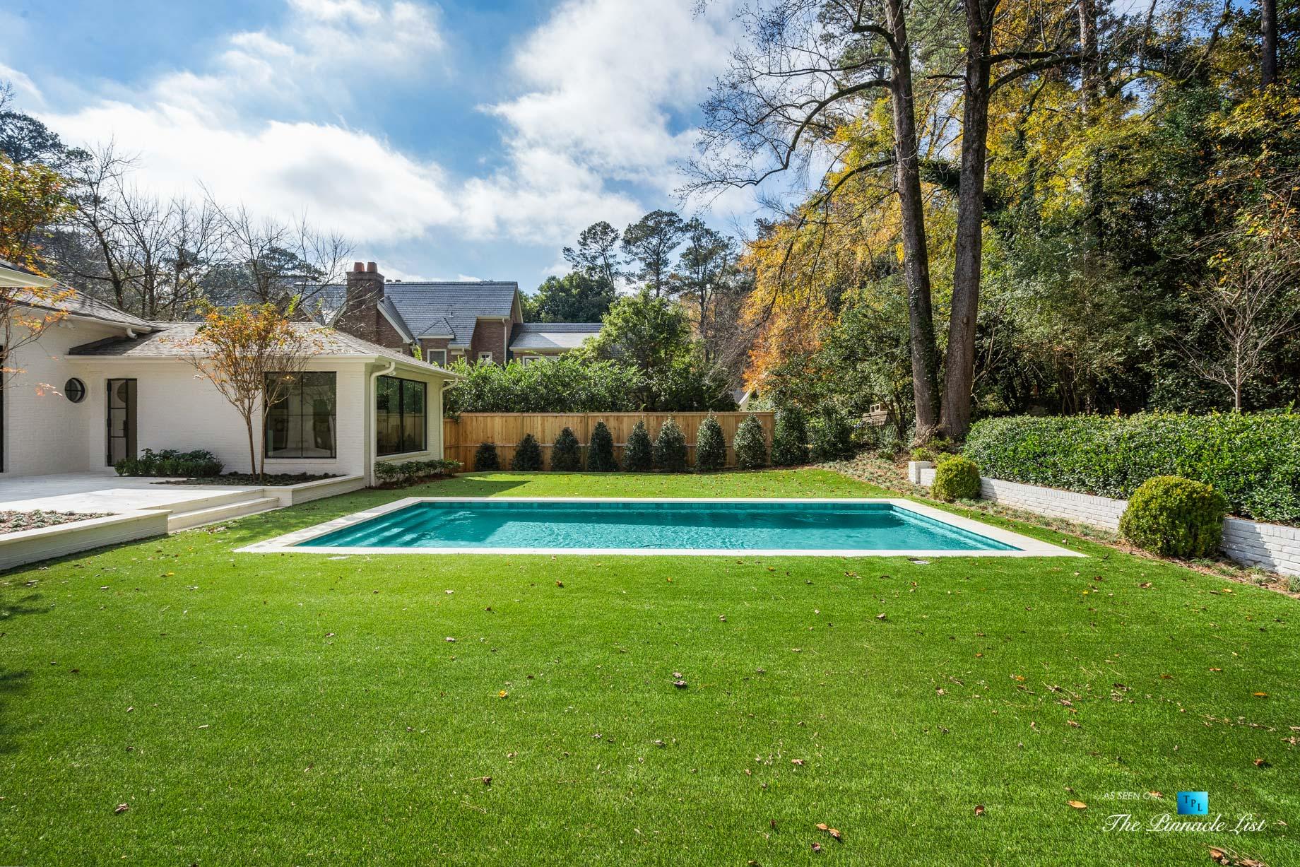 447 Valley Rd NW, Atlanta, GA, USA - Backyard Pool - Luxury Real Estate - Tuxedo Park Home