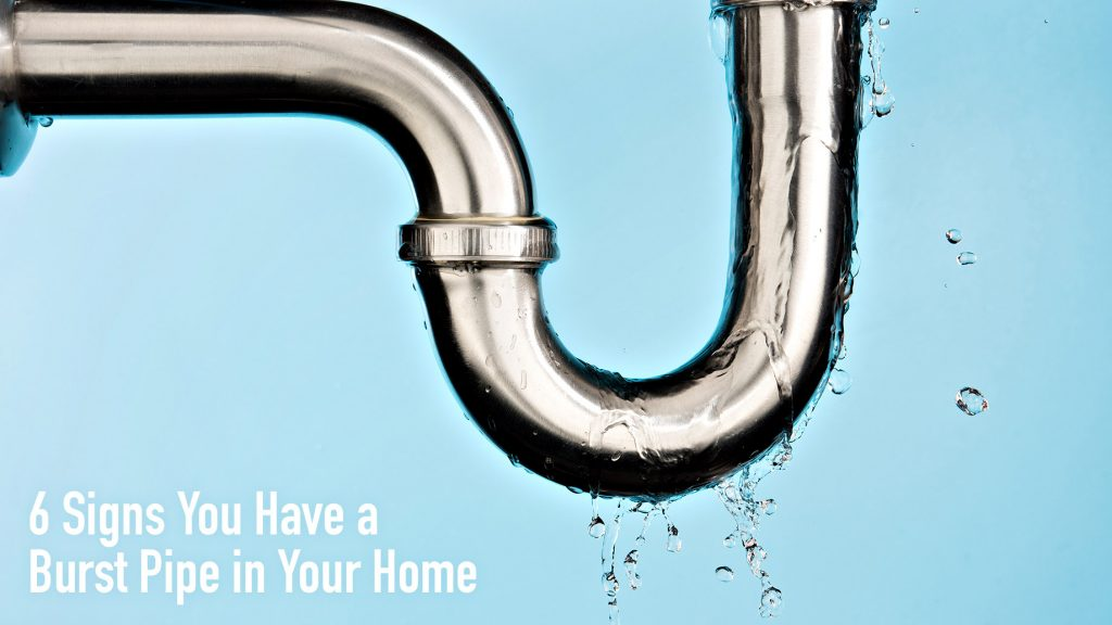 6 Signs You Have a Burst Pipe in Your Home