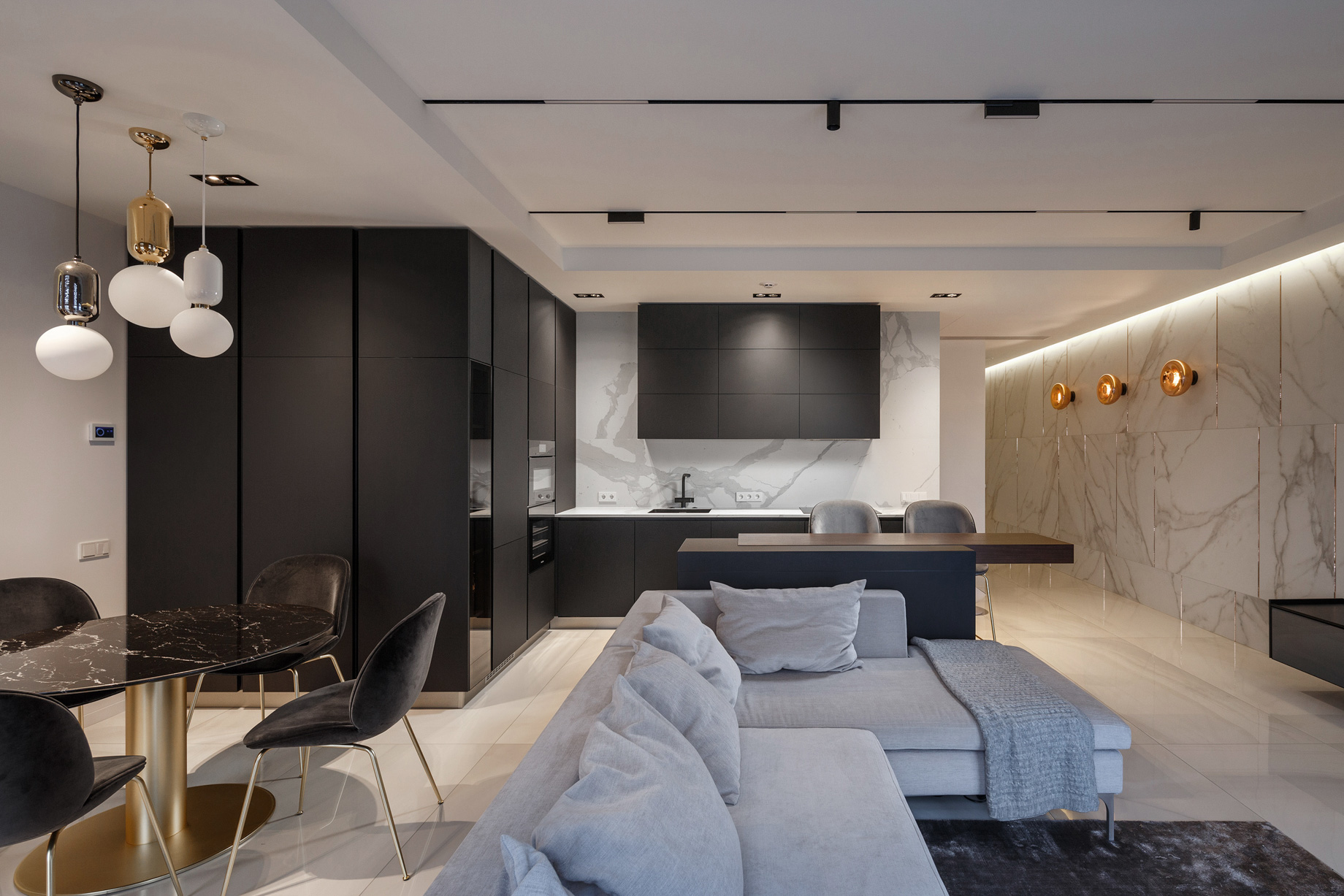 SHINE Luxury Apartment Interior Design Dnipro, Ukraine – Svoya Studio