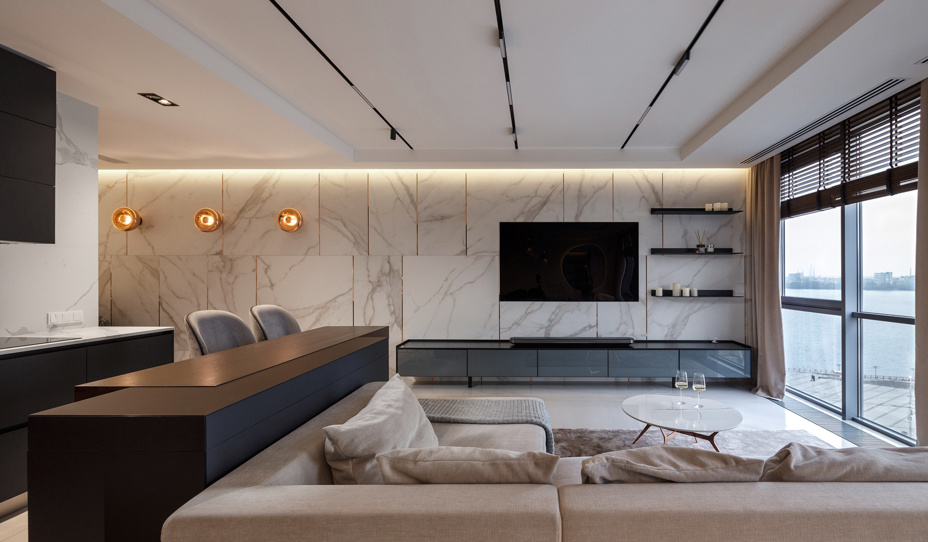 SHINE Luxury Apartment Interior Design Dnipro, Ukraine - Svoya Studio