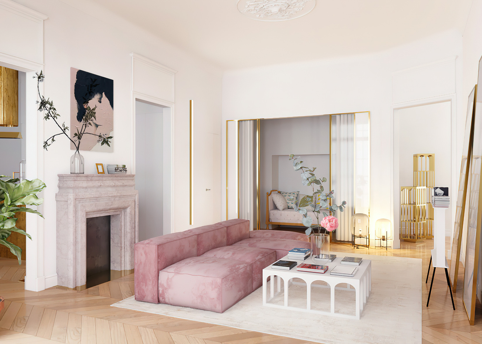 Parisian Apartment Interior Design New York, USA - Harry Nuriev