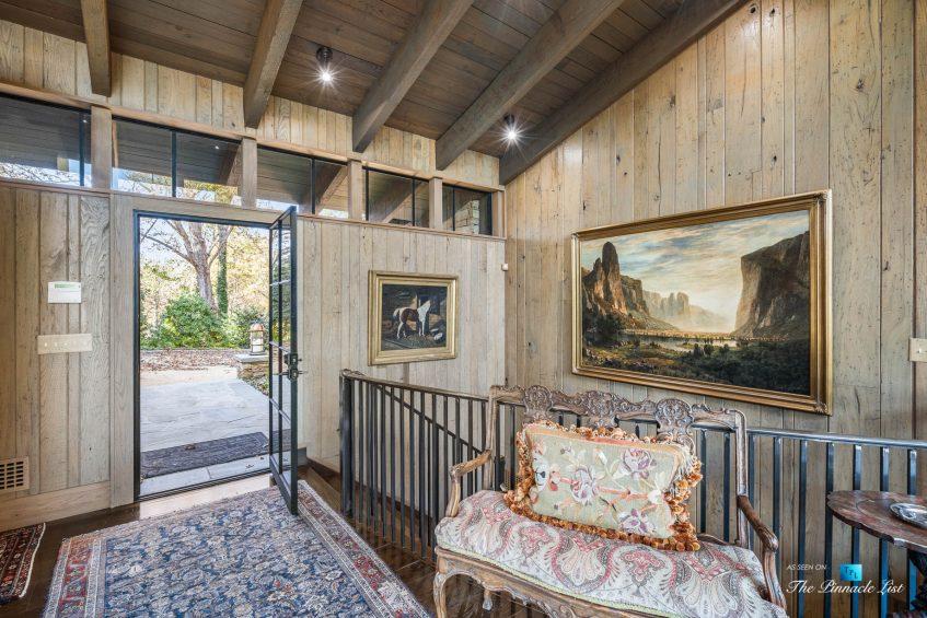 7860 Chestnut Hill Rd, Cumming, GA, USA - Interior Front Door - Luxury Real Estate - Lake Lanier Mid-Century Modern Stone Home