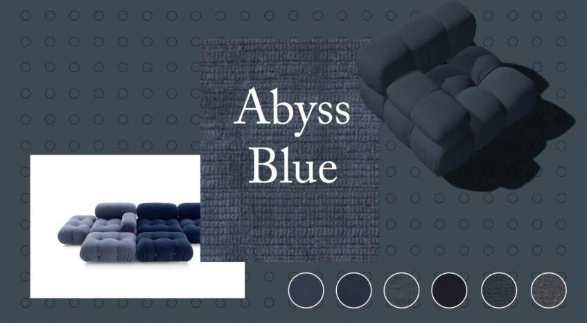 Camaleonda Classic Sofa Collection B&B Italia - Mario Bellini - Abyss Blue
