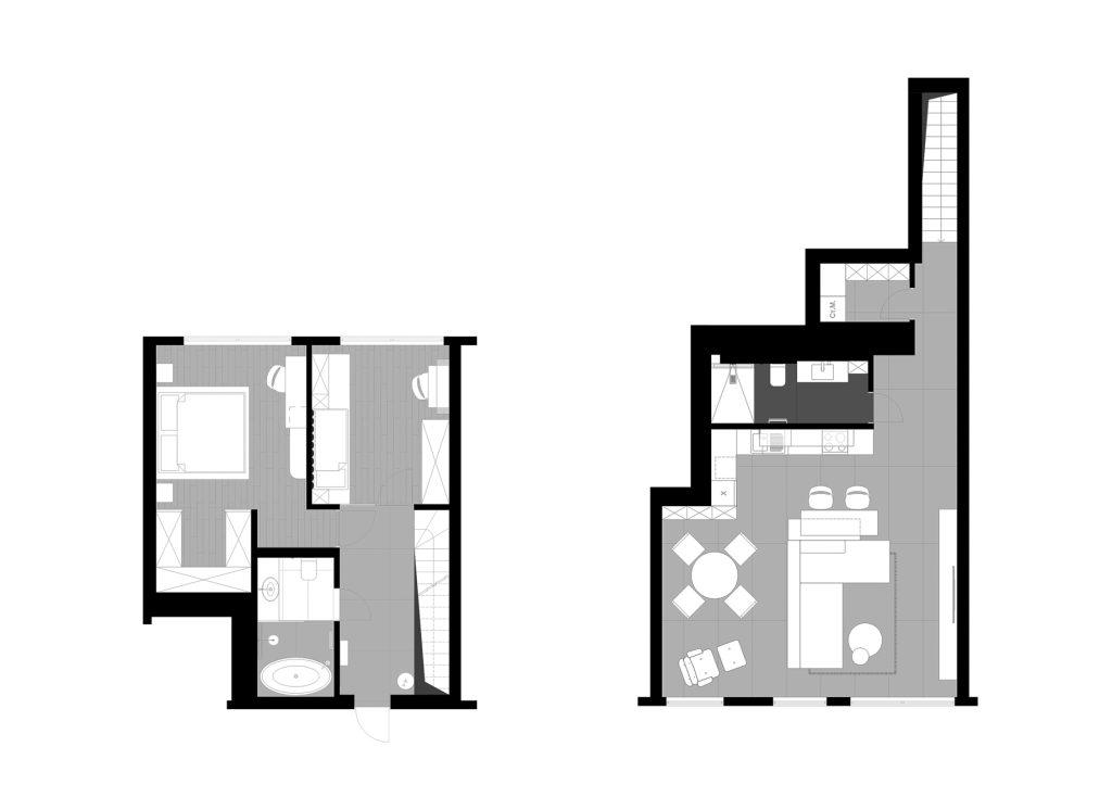 Floor Plans - SHINE Luxury Apartment Interior Design Dnipro, Ukraine - Svoya Studio