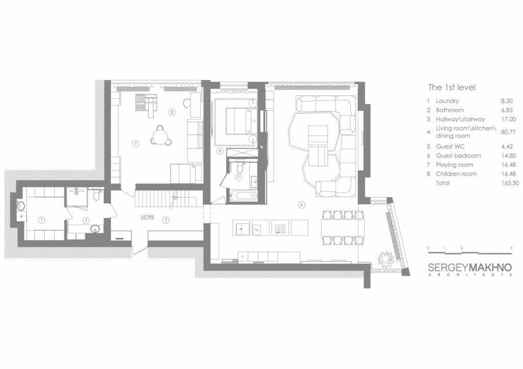 Floor Plans - Mod Apartment Interior Design Kiev, Ukraine - Sergey Makhno Architects