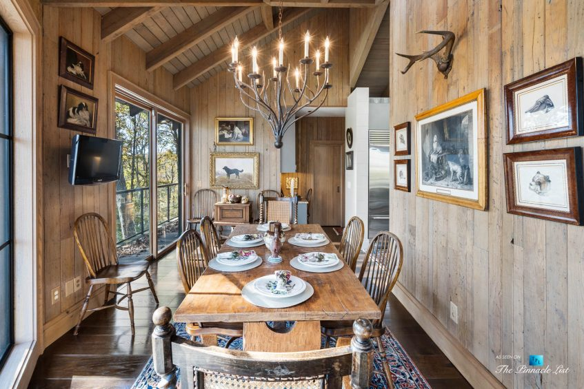 7860 Chestnut Hill Rd, Cumming, GA, USA - Dining Room - Luxury Real Estate - Lake Lanier Mid-Century Modern Stone Home