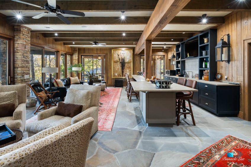 7860 Chestnut Hill Rd, Cumming, GA, USA - Recreation Room - Luxury Real Estate - Lake Lanier Mid-Century Modern Stone Home