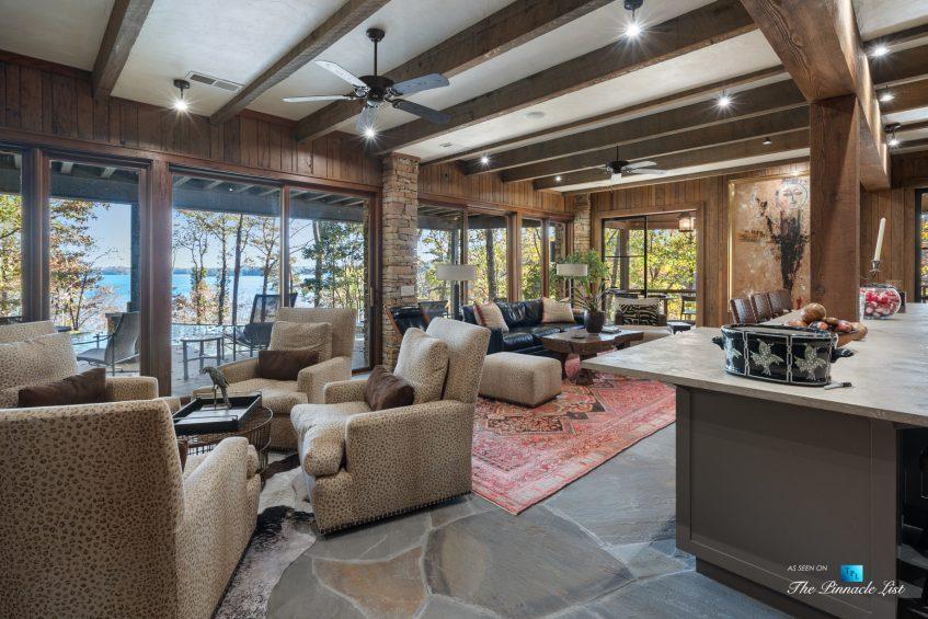 7860 Chestnut Hill Rd, Cumming, GA, USA - Recreation Room and Bar - Luxury Real Estate - Lake Lanier Mid-Century Modern Stone Home