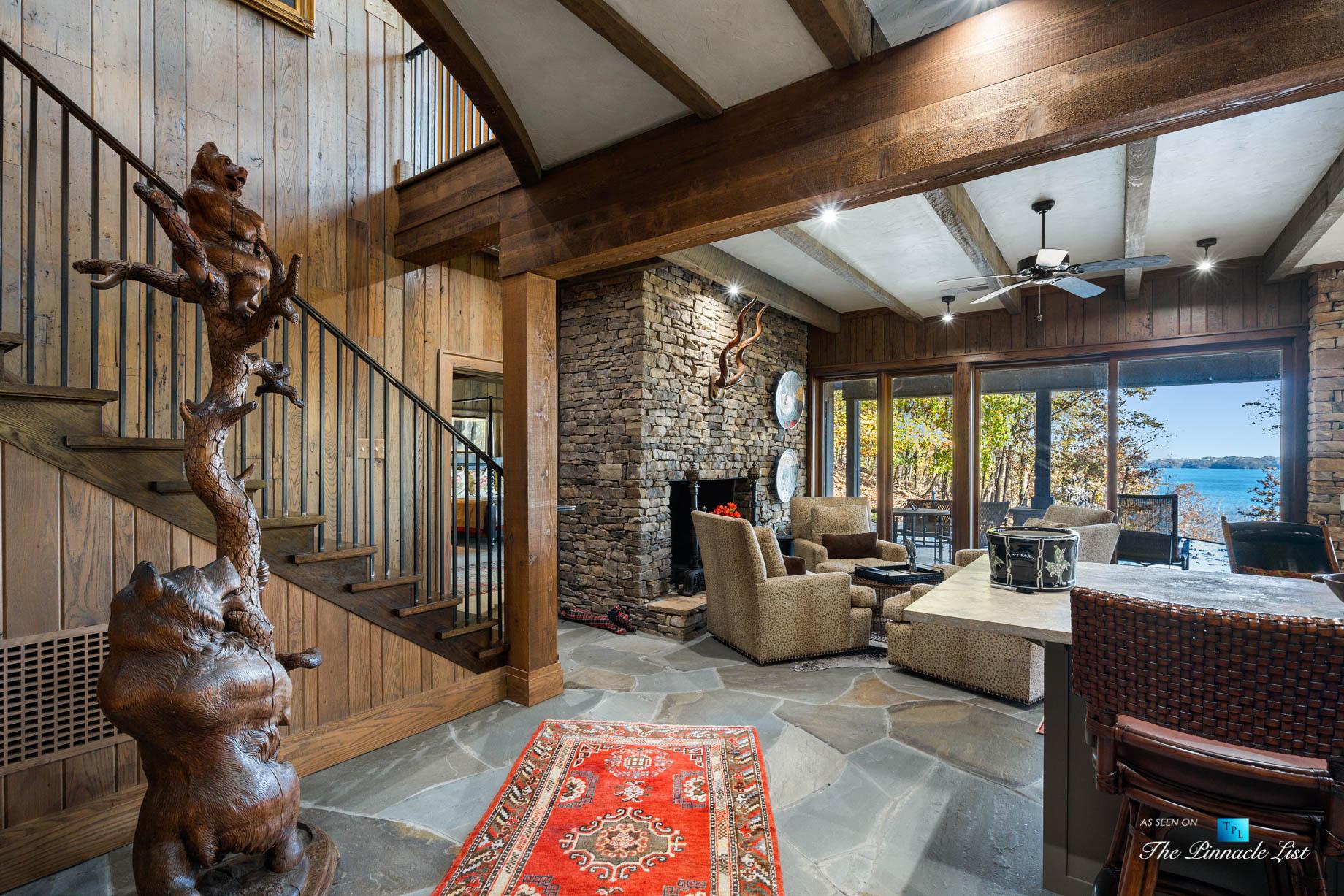 7860 Chestnut Hill Rd, Cumming, GA, USA – Recreation Room – Luxury Real Estate – Lake Lanier Mid-Century Modern Stone Home