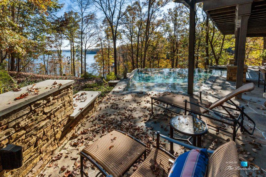 7860 Chestnut Hill Rd, Cumming, GA, USA - Pool Deck - Luxury Real Estate - Lake Lanier Mid-Century Modern Stone Home